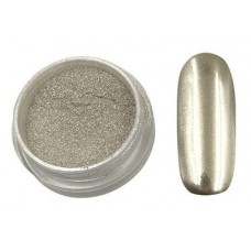 Silver Mirror Powder. Gümüş pigment aynalı manikür için. 1 gr.